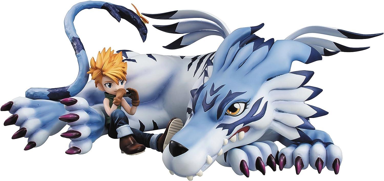 disfrutando de sus compras Digimon Adventure Serie G.E.M. Estatua PVC Garurumon & & & Yamato 25 cm  grandes precios de descuento