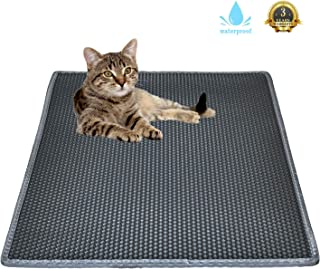Cat Litter Mat Litter Trapping Mat,Honeycomb Double Layer Design Waterproof Urine Proof Trapper Mat for Litter Boxes, Large Size Easy Clean Scatter Control