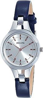 Sonata Steel Daisies Analog Silver Dial Women's Watch-8151SL01