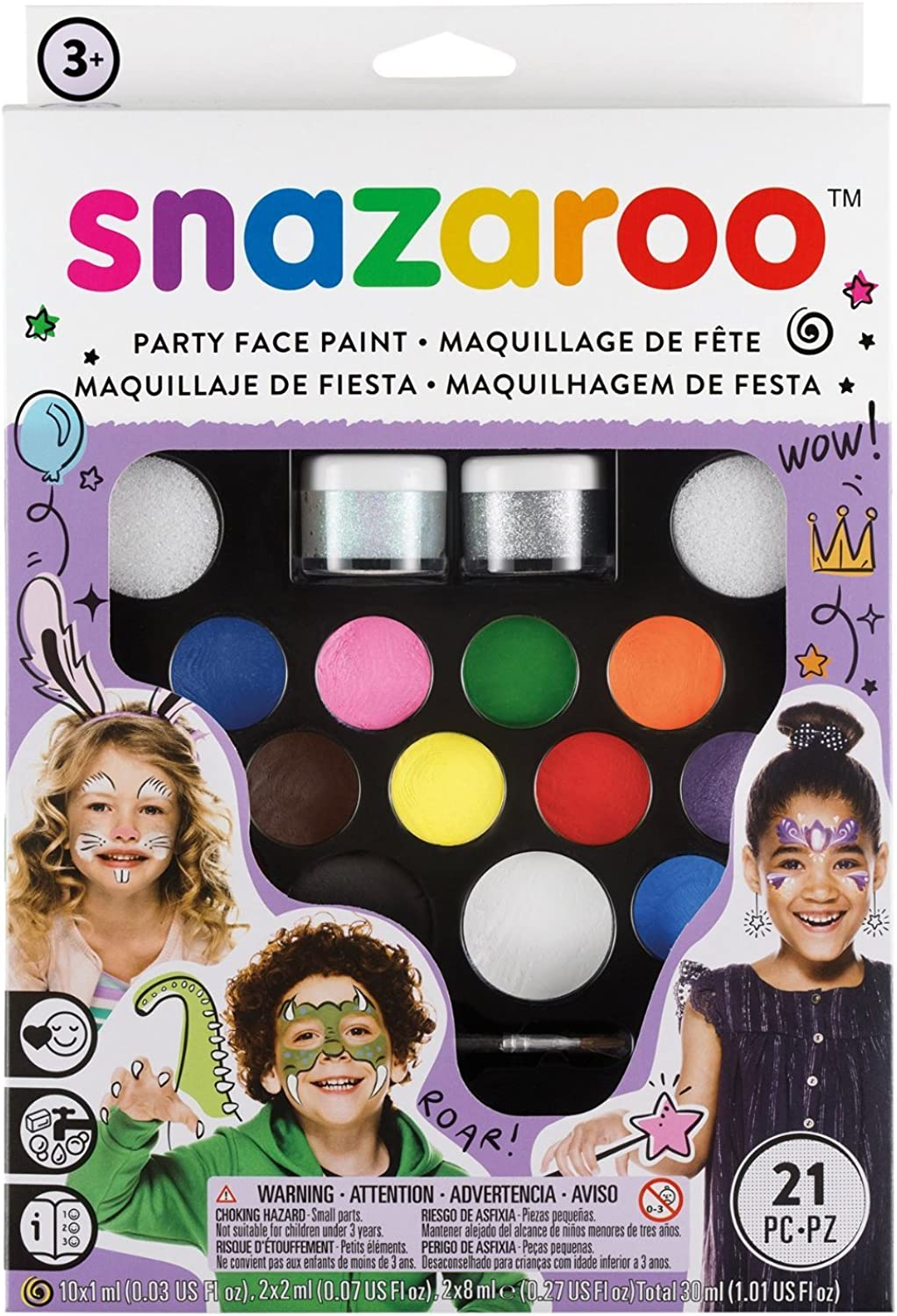 5x Snazaroo Face Paint Ultimate Party Pack