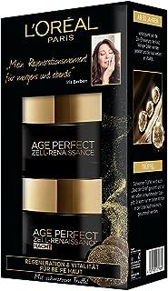 L'Oreal Paris 巴黎欧莱雅 Age Perfect系列 修复再生 日霜晚霜面部护理套装 黑松露红茶精华 延长皮肤活力