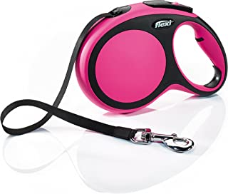 Flexi New Comfort Retractable Dog Leash (Tape), 26 ft, Large, Pink