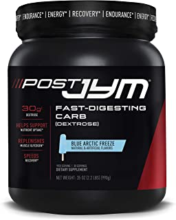 Post JYM Fast-Digesting Carb - Post-Workout Recovery Pure Dextrose | JYM Supplement Science | Blue Arctic Freeze, 30 Servings