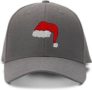 8603fca24b6 Speedy Pros Santa Merry Christmas Embroidery Adjustable Structured Baseball  Hat Gray