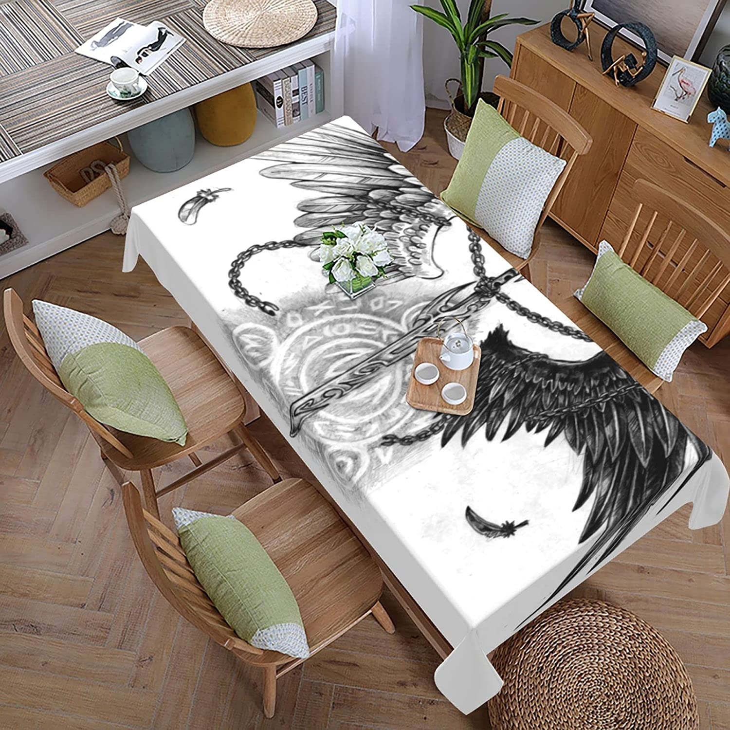 Holy Sword Wings Large-scale sale Free shipping anywhere in the nation Tablecloth-108x60 in Cloth Polyester Table Wash