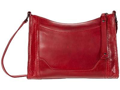 Frye Melissa Zip Crossbody (Red) Cross Body Handbags