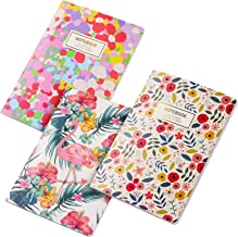 Cute Field Notebooks, 3 Pack A5 Pretty Lined Journal with College Ruled Paper for Memo Book, Notes, Lists and Thoughts, Gi...