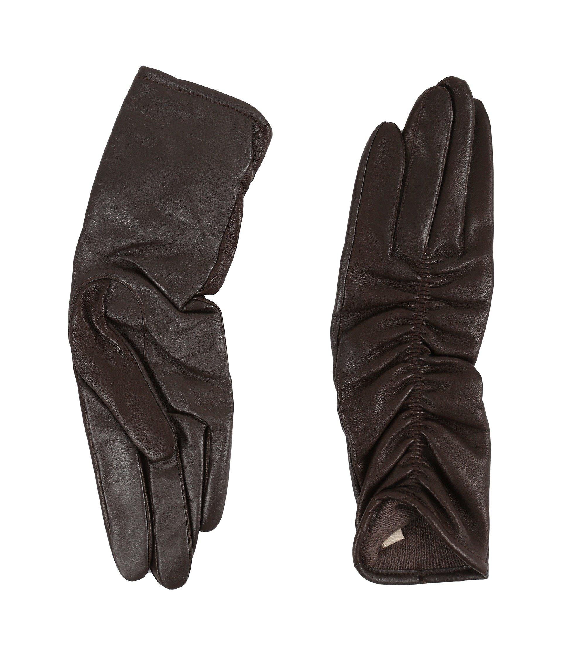 Guantes para Mujer UGG Ruched Novelty Leather Smart Gloves  + UGG en VeoyCompro.net