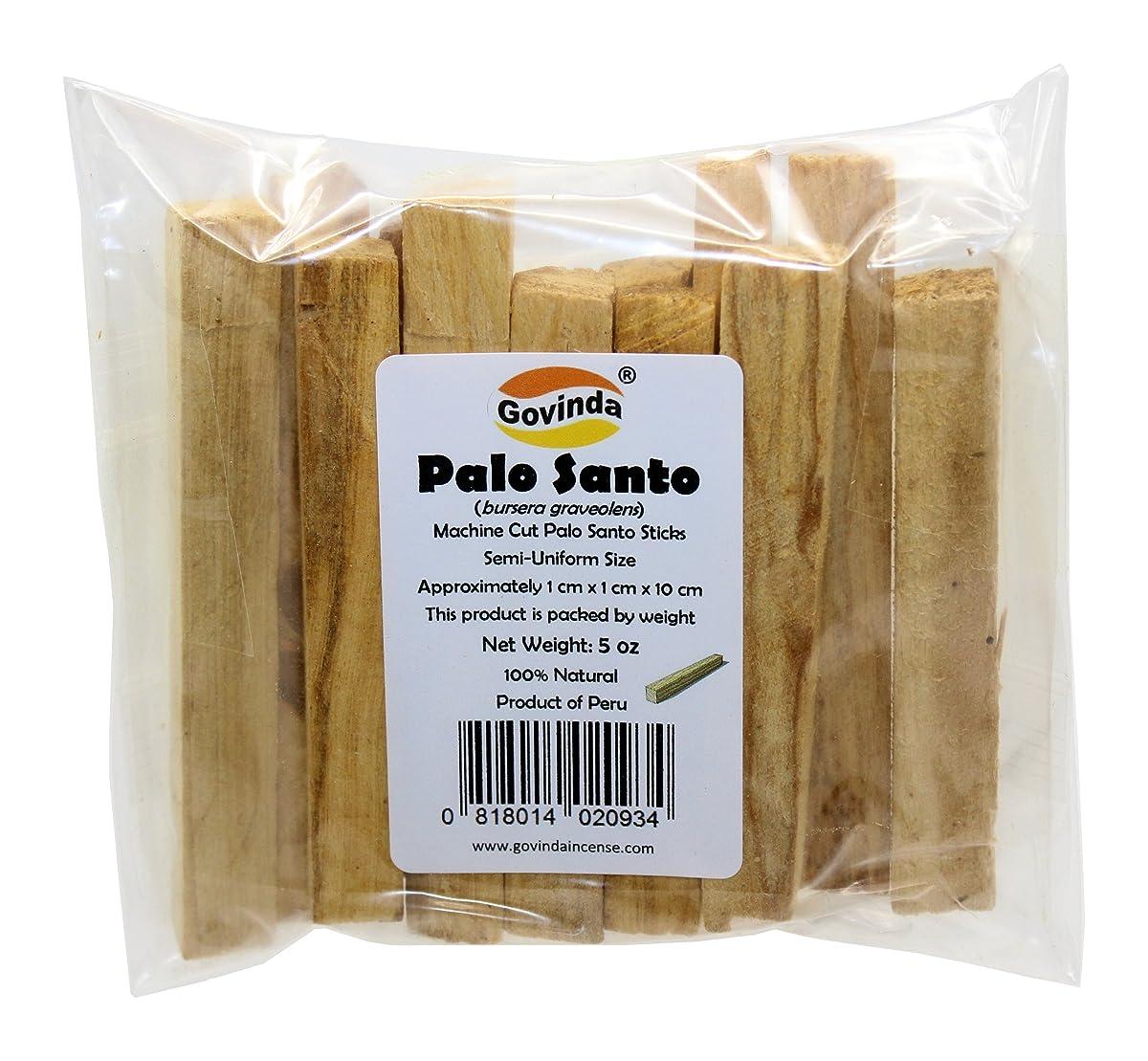 汗農村貝殻GovindaプレミアムPalo Santo Holy Wood Incense Sticks 5オンスパックfor purifying、クレンジング、ヒーリング、瞑想、Stress Relief。100?%天然