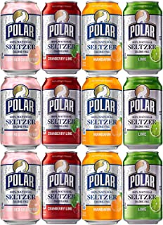 Polar Seltzer Variety Special, Cranberry Lime, Mandarin, Ruby Red Grapefruit, Lime Flavor, 12 oz Can (3 x 4 Flavors, Total of 12 Cans
