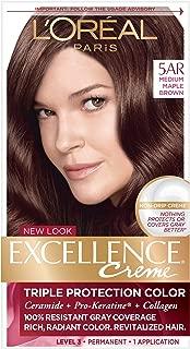 L'Oreal Excellence Creme - 5AR Velvet Brown (Medium Maple Brown) 1 Each (Pack of 4)