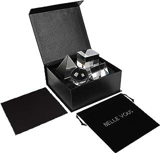 Belle Vous K9 Kristall Prismen Dreieck, Kugel, Pyramide, Würfel (4 STK) - Fotografie Glas Prisma Spektrometer mit Tasche, ...