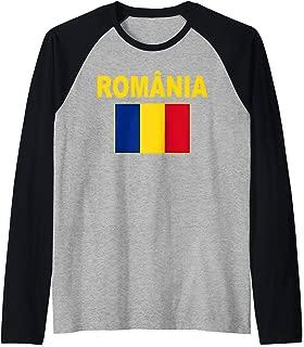 Romania Flag TShirt Cool Romanian Flags Gift Top Tee Raglan Baseball Tee