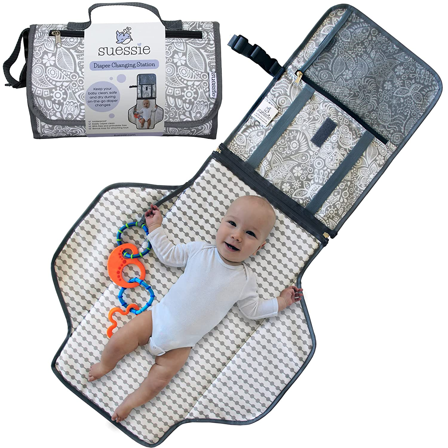 Suessie Portable Diaper Changing Pad and Organizer