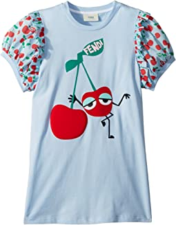 Fendi Kids Cherry Graphic T-Shirt w/ Cherry Sleeves (Little Kids)