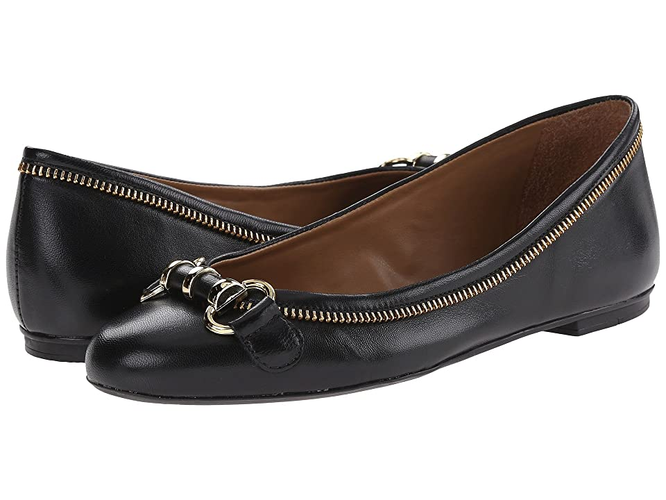 French Sole Padre (Black Leather) Women