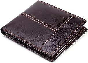 محفظة جلدية قابلة للطي نحيفة قابلة للطي من الجلد للرجال