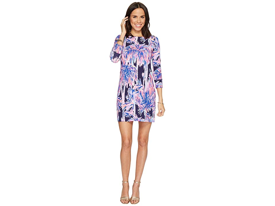 Lilly Pulitzer UPF 50+ Sophie Dress (Bright Navy Palms Up) Women