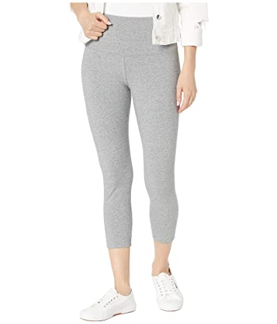 Lysse Cropped Cotton Leggings (Grey Melange) Women