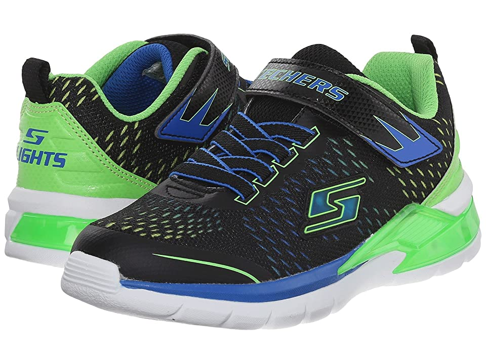 SKECHERS KIDS Erupters II Lava Arc 90551L Lights (Little Kid) (Black/Blue/Lime) Boys Shoes