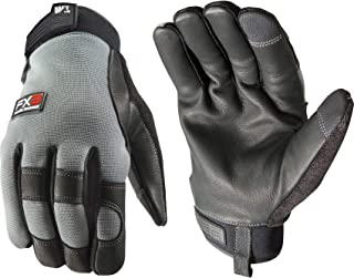 FX3 Men's Water-Resistant Leather Palm Touchscreen Winter Work Gloves, Extra Large (Wells Lamont 7799XL)