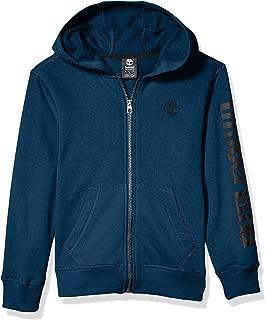 Timberland Boys' Full Zip Hooded Logo Sweatshirt