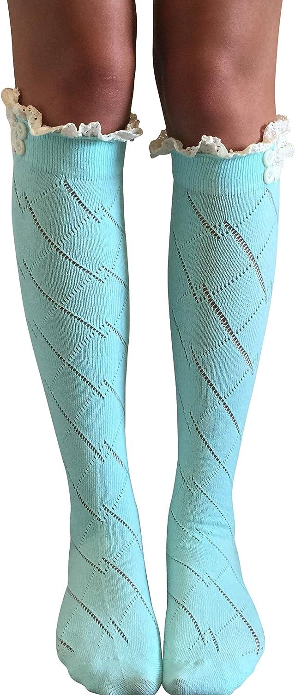 Lace Boot Socks, Boot Socks, Women's Boot Socks (Mint)
