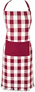 DII Cotton Adjustable Chef Apron with Pocket and Extra Long Ties, Woven Heavyweight Men and Women Fringed Kitchen Apron fo...
