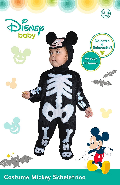 Ciao Costume Disney Baby Halloween Combinaison de squelette Mickey Mouse avec /écouteurs 12-18 mois 12-18 mesi Noir//Blanc