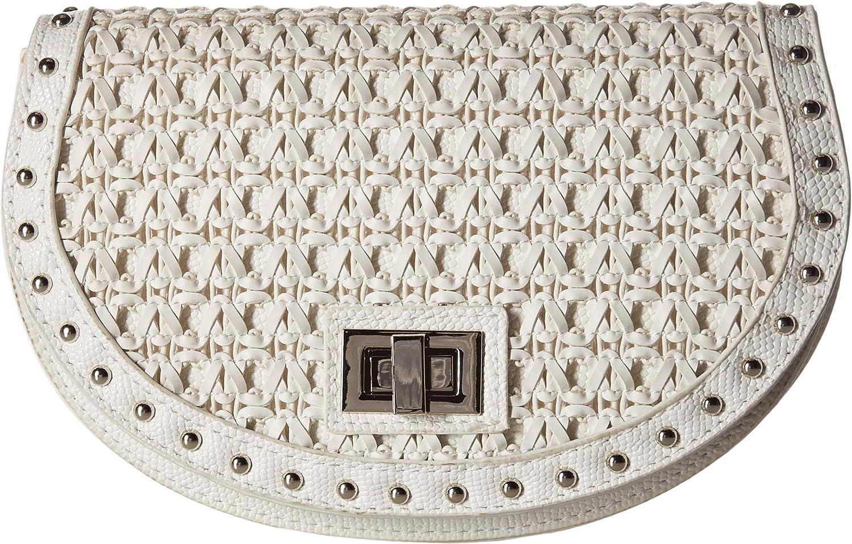 Steve Madden Women's Woven Belt Bag White SM