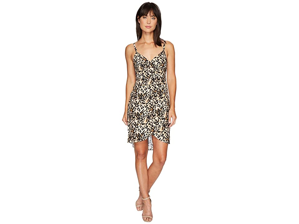 Nicole Miller Leo Silk Wrap Dress (Multi) Women