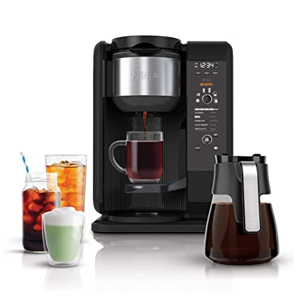 Buy Ninja Hot and Cold Brewed System, Auto-iQ Tea and Coffee Maker with 6  Brew Sizes, 5 Brew Styles, Frother, Coffee & Tea Baskets with Glass Carafe  (CP301) Online at Low Prices