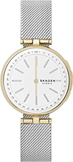 Skagen Connected Women's Signatur T-Bar Two-Tone Stainless Steel Mesh Hybrid Smartwatch Color: Gold and Silver-Tone (Model: SKT1413)