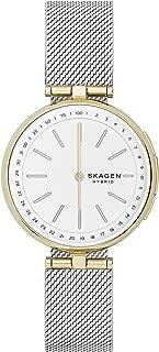 Skagen SKT1413 Smartwatch Híbrido Skagen Dama, Extensible Acero Color Plata, Caja Color Dorado, Multifuncion for Accesorios, Plata, Mujer Estándar