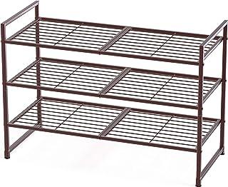 Sponsored Ad - Simple Houseware 3-Tier Stackable Shoes Rack Storage Shelf, Bronze