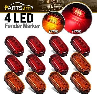 Partsam 12x 4 Inch Oblong Led Marker Lights 10 Diodes Black Base 4