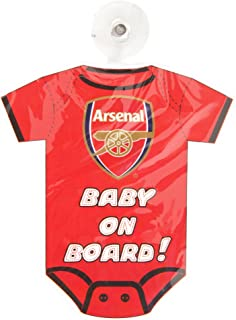 Arsenal FC Official Football Kit Baby On Board Car Window Sign