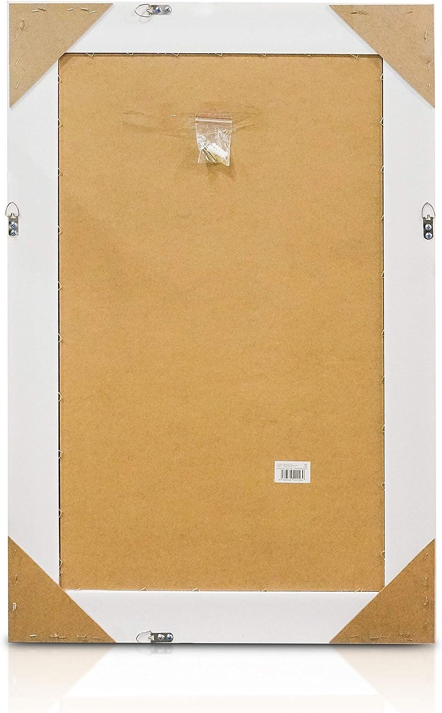 130 x 45 cm Shabby Chic Wandspiegel Antik Wei und Gold Groer franzosischer Standspiegel im Vintage Stil
