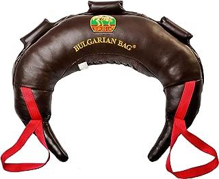 Bulgarian Bag Suples Original Model - Genuine Leather (26 lbs) - Free Instructional DVD Included! Fitness, Crossfit, Wrestling, Judo, Grappling, Functional Training, MMA, Sandbag