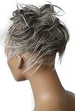 PRETTYSHOP Hairpiece Hair Rubber Scrunchie Scrunchy Updos VOLUMINOUS Wavy Messy Bun gray mix # 9T60B G10F