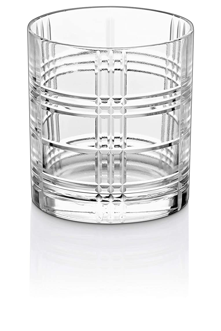 Tumbler Glass - Double Old Fashioned - Set of 6 Glasses - Fully Designed DOF tumblers - For Whiskey - Bourbon - Water - Beverage - Drinking Glasses - 12 oz. - Lead Free Crystal - Made in Europe