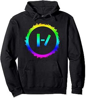 Best circle Silhouette Planet Colorful Earth Hoodie Tshirt