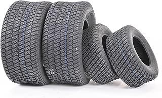 WANDA Set of 4 New Lawn Mower Turf Tires 15x6-6 Front & 20x10-8 Rear /4PR -13016/13040