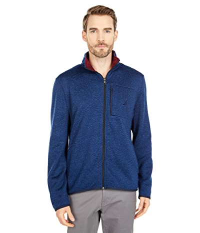 Nautica Fleece Zip Sweater (Navy) Men