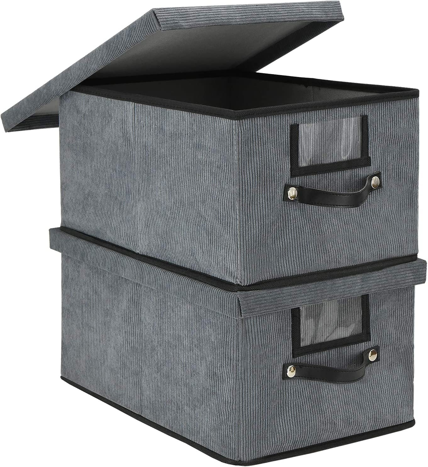 Decorative Financial Now on sale sales sale Storage Baskets Bins with 2 Lids Large Foldable Pack