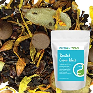 Roasted Cocoa Yerba Mate - Chocolate Dessert Tea with Carob, Chicory & Almond - Gourmet Loose Leaf Tea - Coffee Substitute - 5 Oz. Pouch