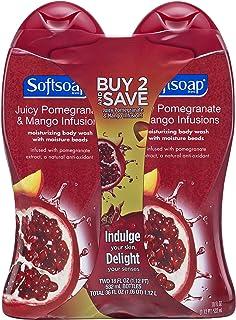 Softsoap Body Wash, Pomegranate and Mango, 18 Fl Oz, 2 Count