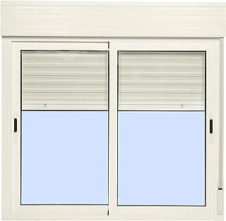 Ventana Aluminio Corredera Con Persiana PVC 1200 ancho ×
