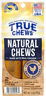 True Chews Natural Chews Made with Real Chicken (Regular), 4 oz