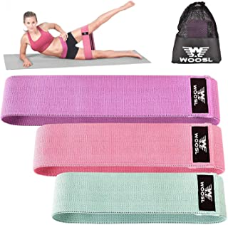 WOOSL Resistance Bands Loop Exercise Booty Bands - Non-Slip Design for Glute and Hip Exercise, 3 Resistance Levels Workout Bands for Yoga,Fitness and Pilates